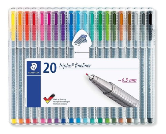 Caneta Fineliner Staedtler Triplus - 20 Cores