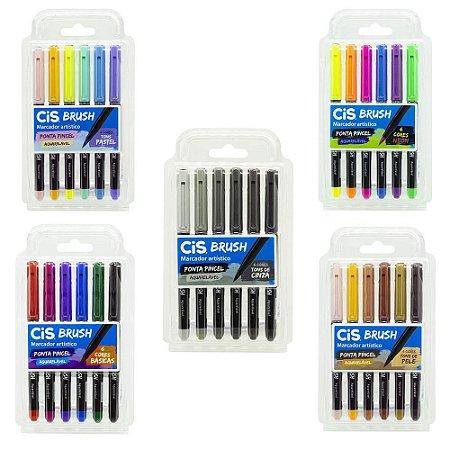 Caneta Brush Pen Cis Aquarelável