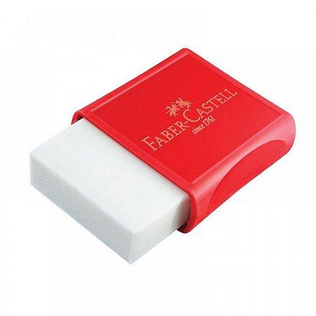 Borracha Branca Plástica Com Capa Vermelha OF/7024 Faber Castell
