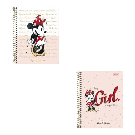 Caderno Colegial Tilibra Minnie 10 Matérias 160 Folhas