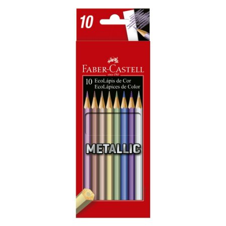 Lápis De Cor Faber Castell Metálico - 10 Cores
