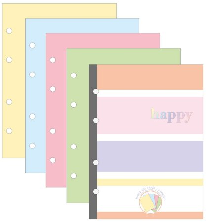 Bloco Para Fichário Colegial Happy Colors 80 Folhas Tilibra