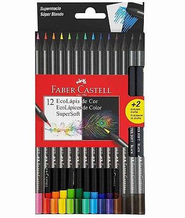 Lápis De Cor Super Soft 12 Cores - Faber Castell