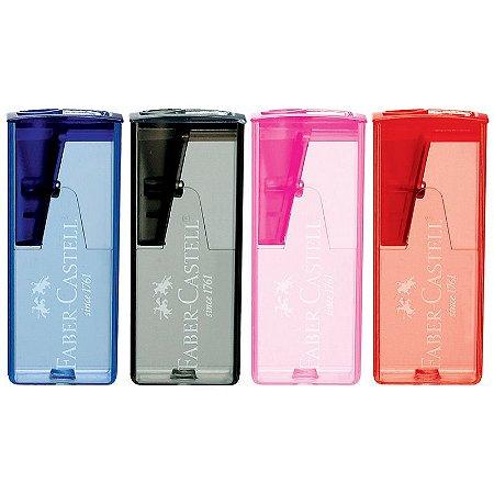 Apontador Com Deposito Retangular Ice Color Faber Castell
