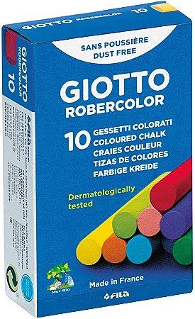 Giz De Lousa Escolar Giotto Robercolor Colorido 10 Unidades
