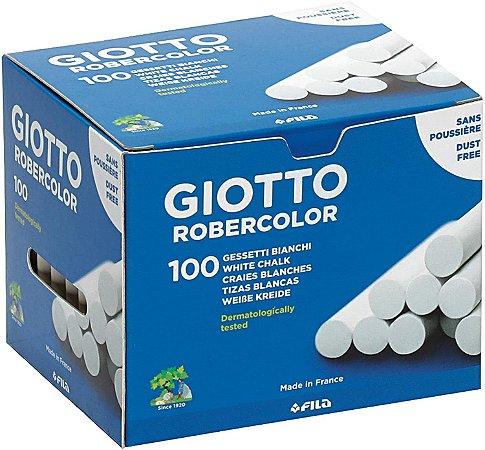 Giz De Lousa Escolar Giotto Robercolor Branco 100 Unidades
