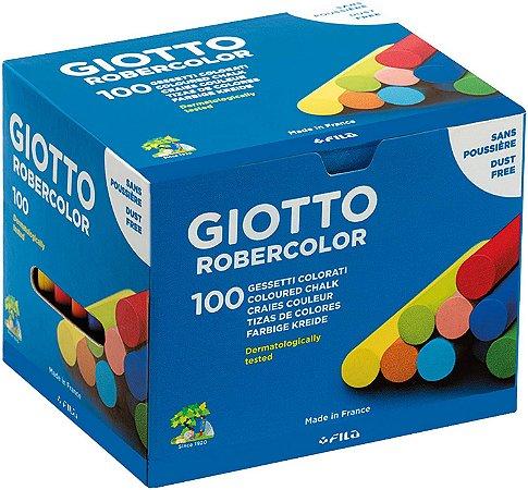 Giz De Lousa Escolar Giotto Robercolor Colorido 100 Unidades