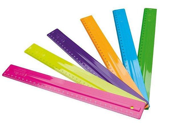 Régua Pop Neon 30 cm Dello