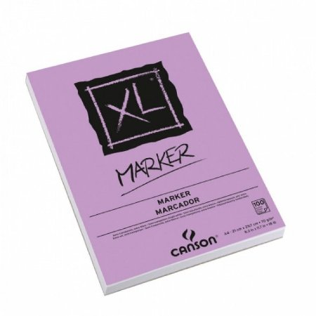 Bloco Desenho A4 Marker 70gr C/ 100 Fls Canson