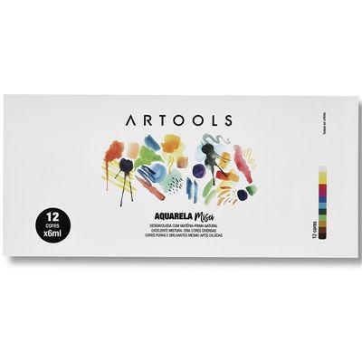 Aquarela Bisnaga Artools Misci 6ml 12 Cores