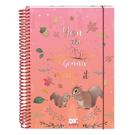 Caderno Colegial Trendy Esquilo 10 Matérias 160 Folhas Dac