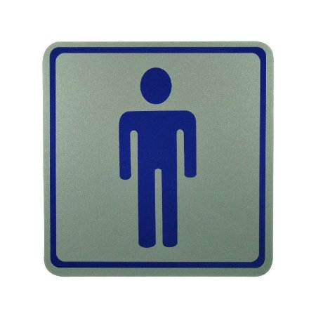 Placa de Identificação Banheiro Masculino - Grande