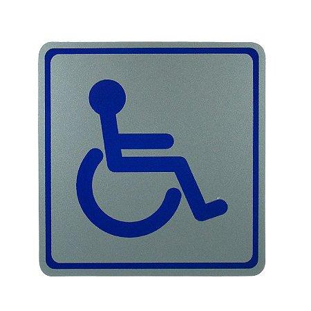 Placa de Identificação Banheiro Deficiente Físico - Grande