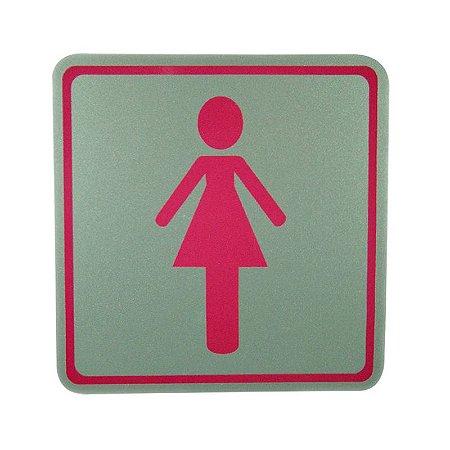 Placa de Identificação Banheiro Feminino - Grande