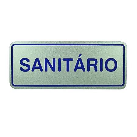 Placa de Identificação Sanitário Banheiro