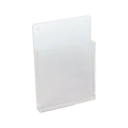 Porta Folder A4 e Revista de Parede em Acrílico