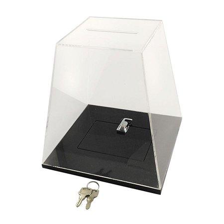 Urna de Acrílico Transparente Pequena