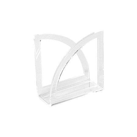 Porta Guardanapo de Acrílico Semicírculo Transparente