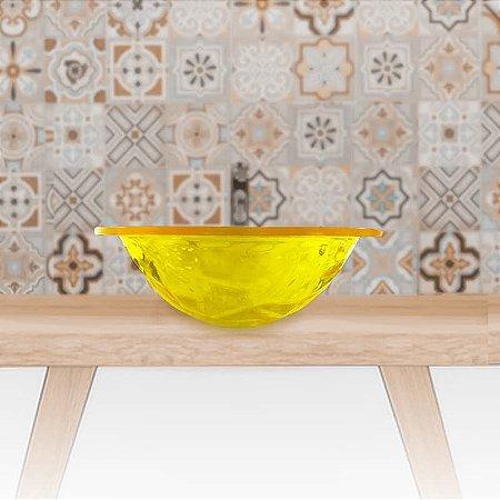 Cuba Pia de Apoio Banheiro Acrílico Amarelo Translúcido