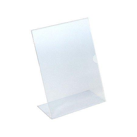 Display de Mesa Vertical Folha A4 de Acrílico Transparente