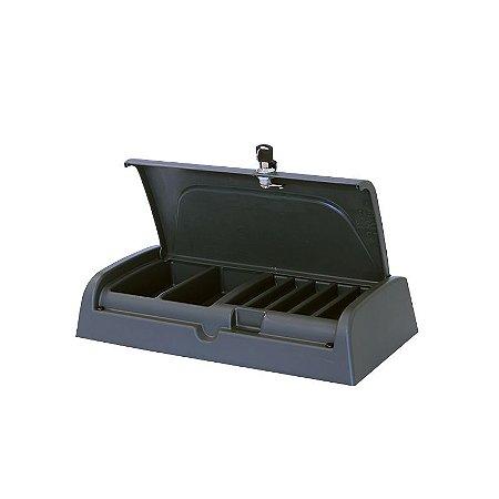 Caixa Cobradora com Chave Cinza Escuro