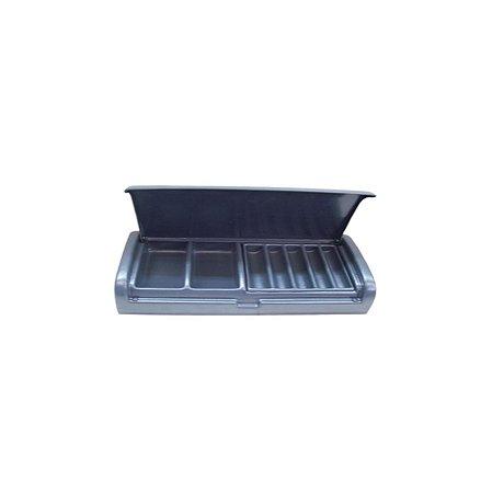 Caixa de Cobrador sem Chave Cinza Escuro