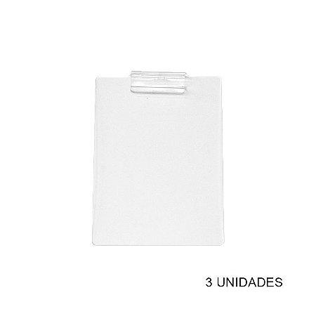 Kit Prancheta de Acrílico Transparente A4 - 3 unidades