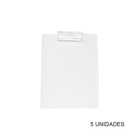 Kit Prancheta de Acrílico Transparente A4 - 5 unidades