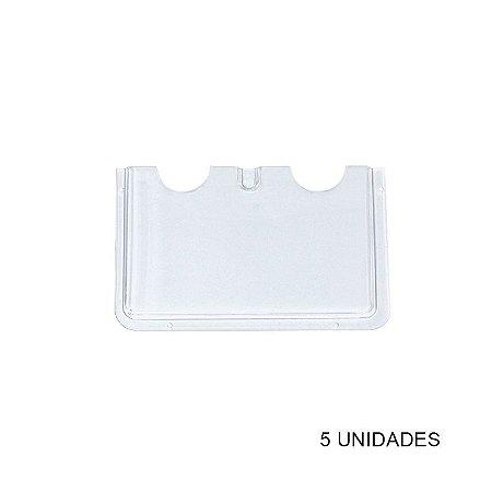 Kit Porta Folheto de Parede em Acrílico A5 - 5 unidades
