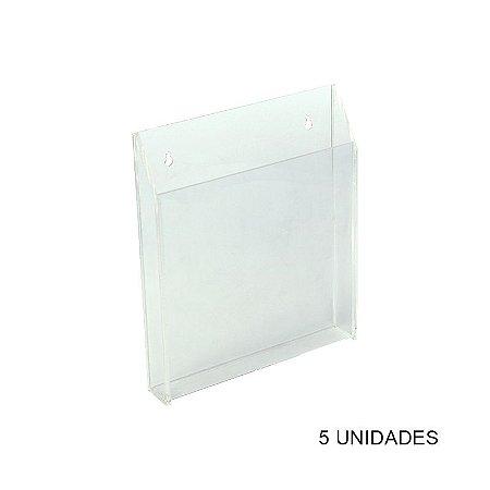 Kit Porta Folder de Parede em Acrílico Grande - 5 unidades