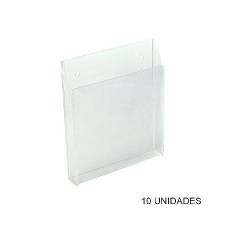 Kit Porta Folder de Parede em Acrílico Grande - 10 unidades