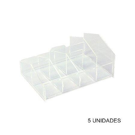 Kit Porta Sachês e Guardanapos Acrílico Transp - 5 unidades