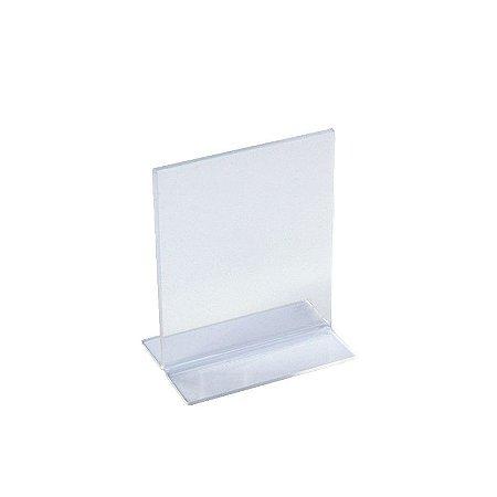 Display de Mesa em T de Acrílico Transparente