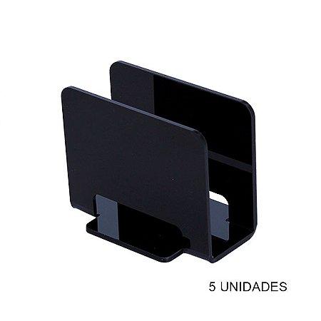 Kit Porta Guardanapos Preto - 5 unidades