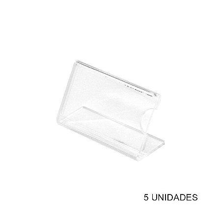Kit Porta Preço Acrílico - Precificador - 5 unidades