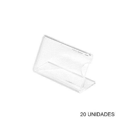 Kit Porta Preço Acrílico - Precificador - 20 unidades