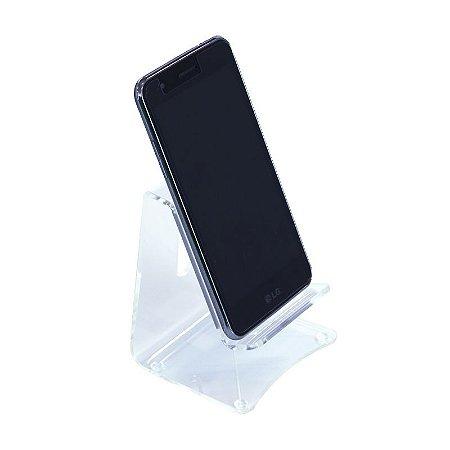 Suporte de Celular em Acrílico - Porta Celular Transparente