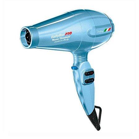 Secador Profissional Babyliss Pro Nano Titanium Porto Fino 6600 - 2000W Azul 110V