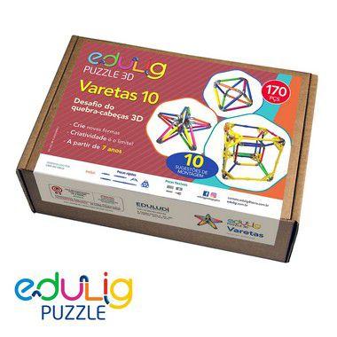 Quebra Cabeça Edulig Puzzle 3D Varetas