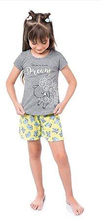Pijama Blusa e Short de Malha