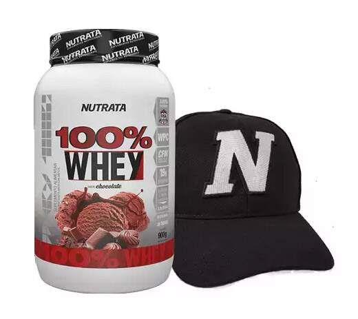 100% Whey (boné grátis) - 900g - Nutrata