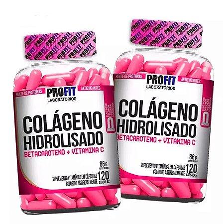 2x Colágeno Hidrolisado + Betacaroteno + Vit. C (240 caps total) - Profit