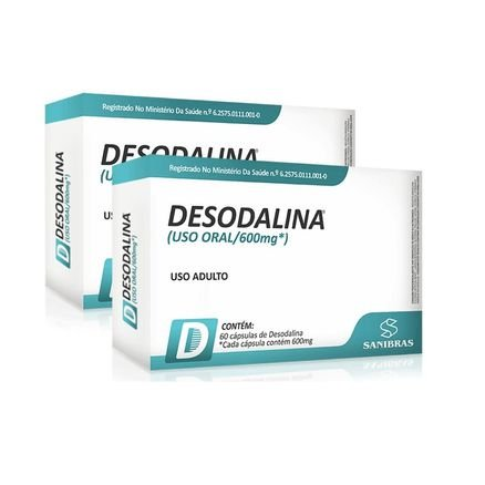 Combo 2x Desodalina - 120 caps (total) - Sanibras
