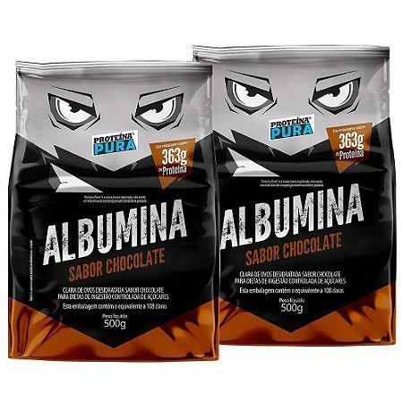 Kit 2x Albumina - 500g - Proteina Pura