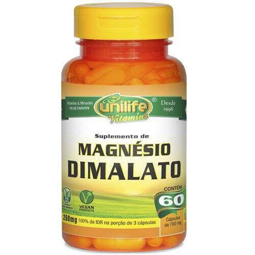 Magnésio Dimalato - 60 caps - Unilife