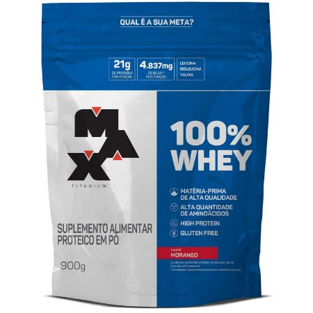 100% Whey Protein - 900g - Max Titanium