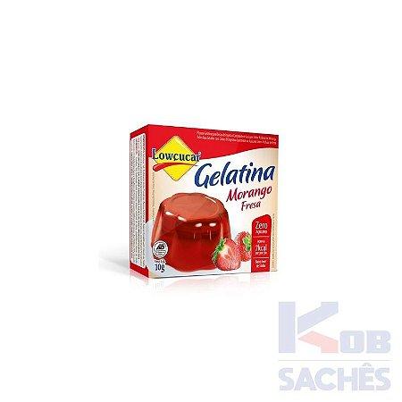 Pó para Gelatina Diet Morango Lowçucar 10g caixa c/ 36 unidades
