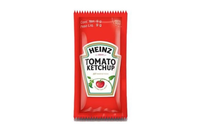 Ketchup Sachê Heinz 8g caixa c/ 192 unidades