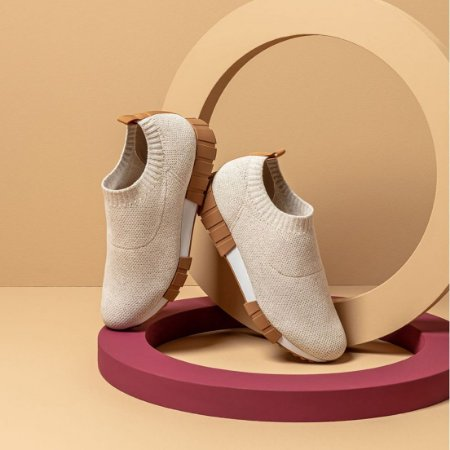 TENIS USAFLEX TRICOT NATURAL BEGE
