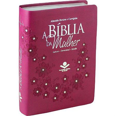 A Bíblia da Mulher Capa Sint. Vinho C/Pedras ARC